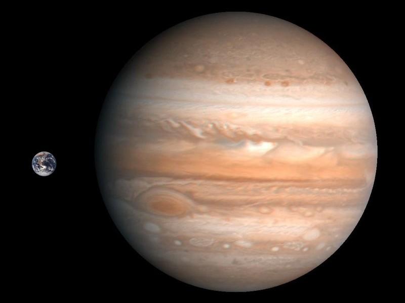 Во сколько раз Юпитер больше Земли