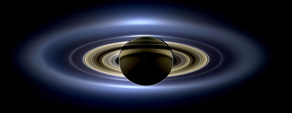 Сатурн, его кольца, Земля, Марс, Венера и много чего еще