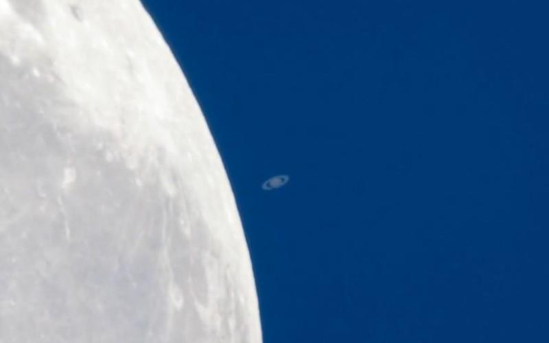 Покрытие Сатурна Луной 21 февраля 2014