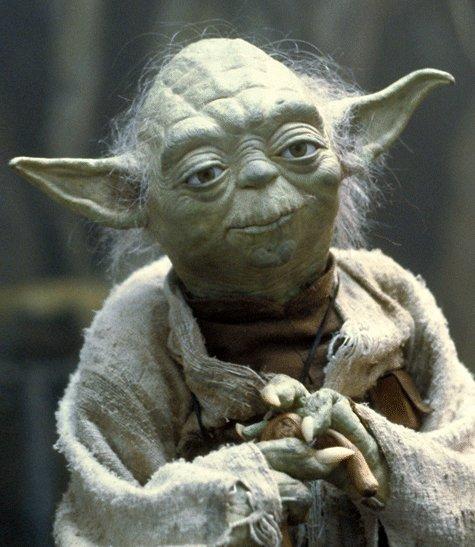 Магистр Йода смотрит на тебя