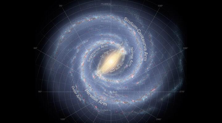 Огромная спираль может полностью опоясывать Млечный путь