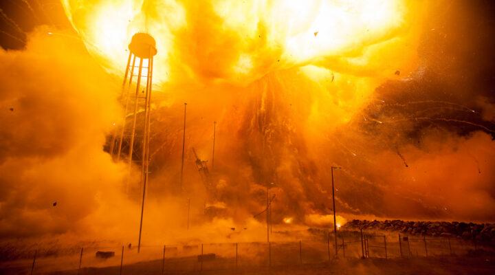 Взрыв ракеты Антарес