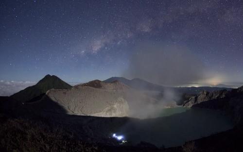 time lapse видео ночного неба