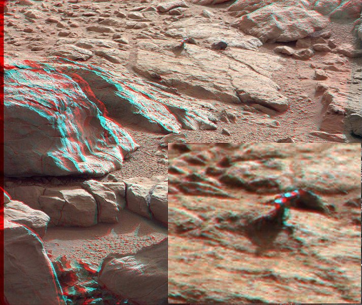 Странная штука с Марса в 3D