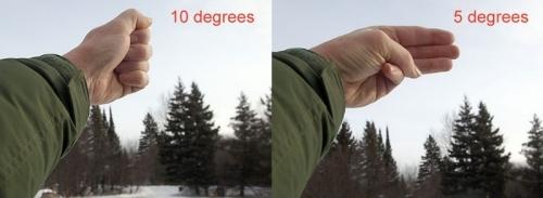 Угол в 10 градусов