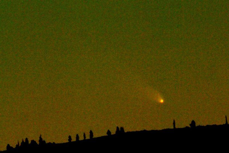 Комета с/2011 L4 Panstarrs с 40 широты