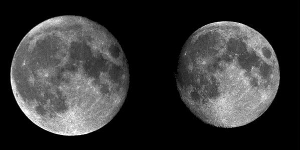 Самая большая и самая маленькая Луна