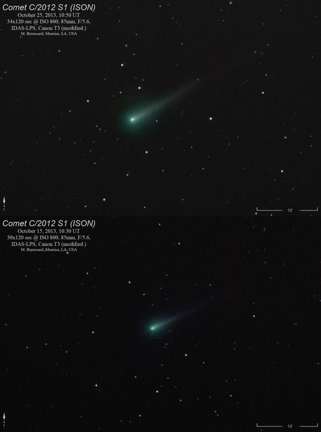 Хвост кометы ISON