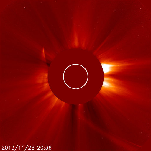 SOHO LASCO C2 on Nov 28 @ 20:24 UT