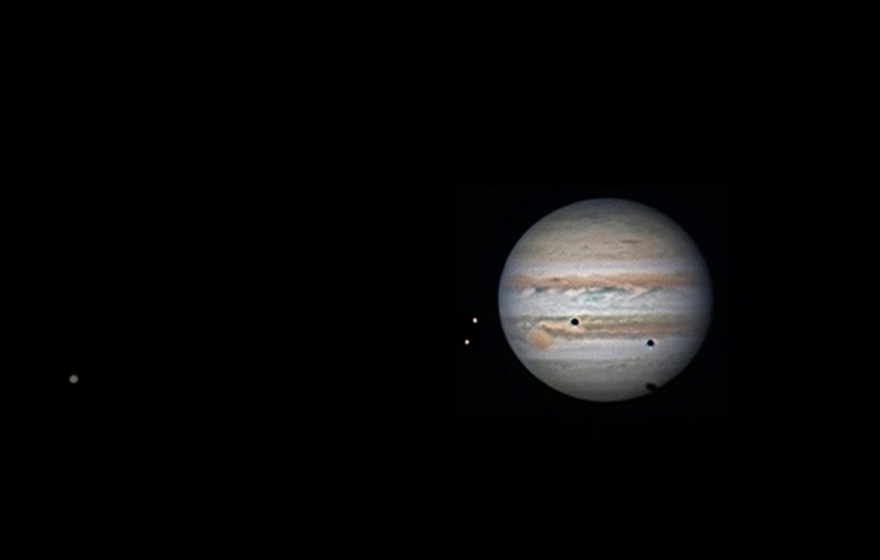 Транзит теней по диску Юпитера