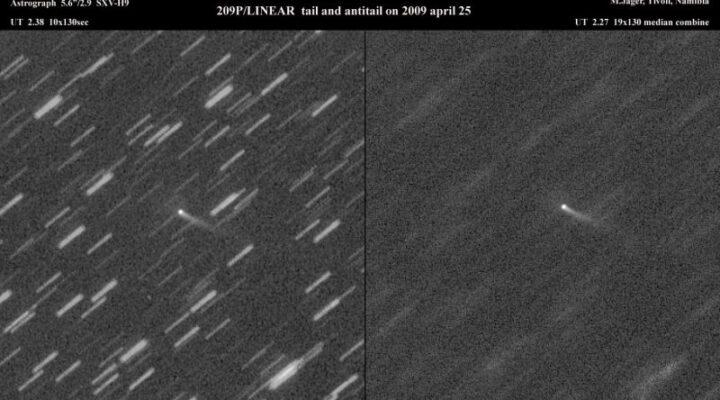 Комета 209P/LINEAR и метеорный дождь в мае 2014