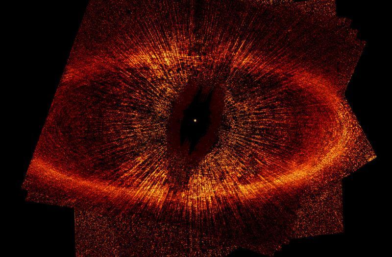 Пылевой диск вокруг Фольмагаута. Снимок сделан телескопом Хаббла. Источник: NASA/ESA/UC Berkeley/Goddard/LLNL/JPL