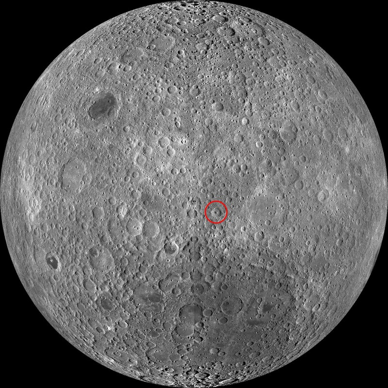 Кратер Икар на обратной стороне Луны