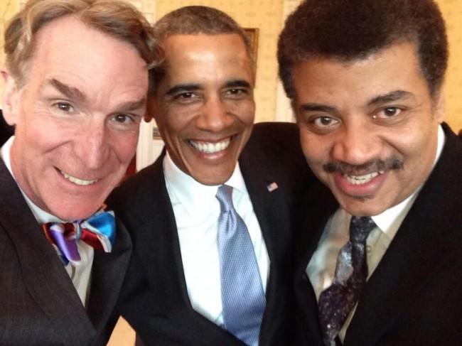 Нил Тайсон, Барак Обама и Билл Най