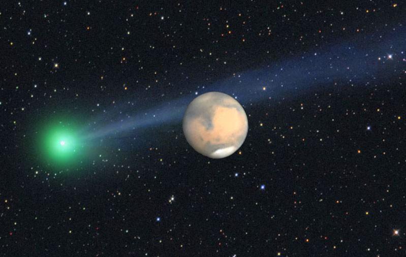 Комета и Марс