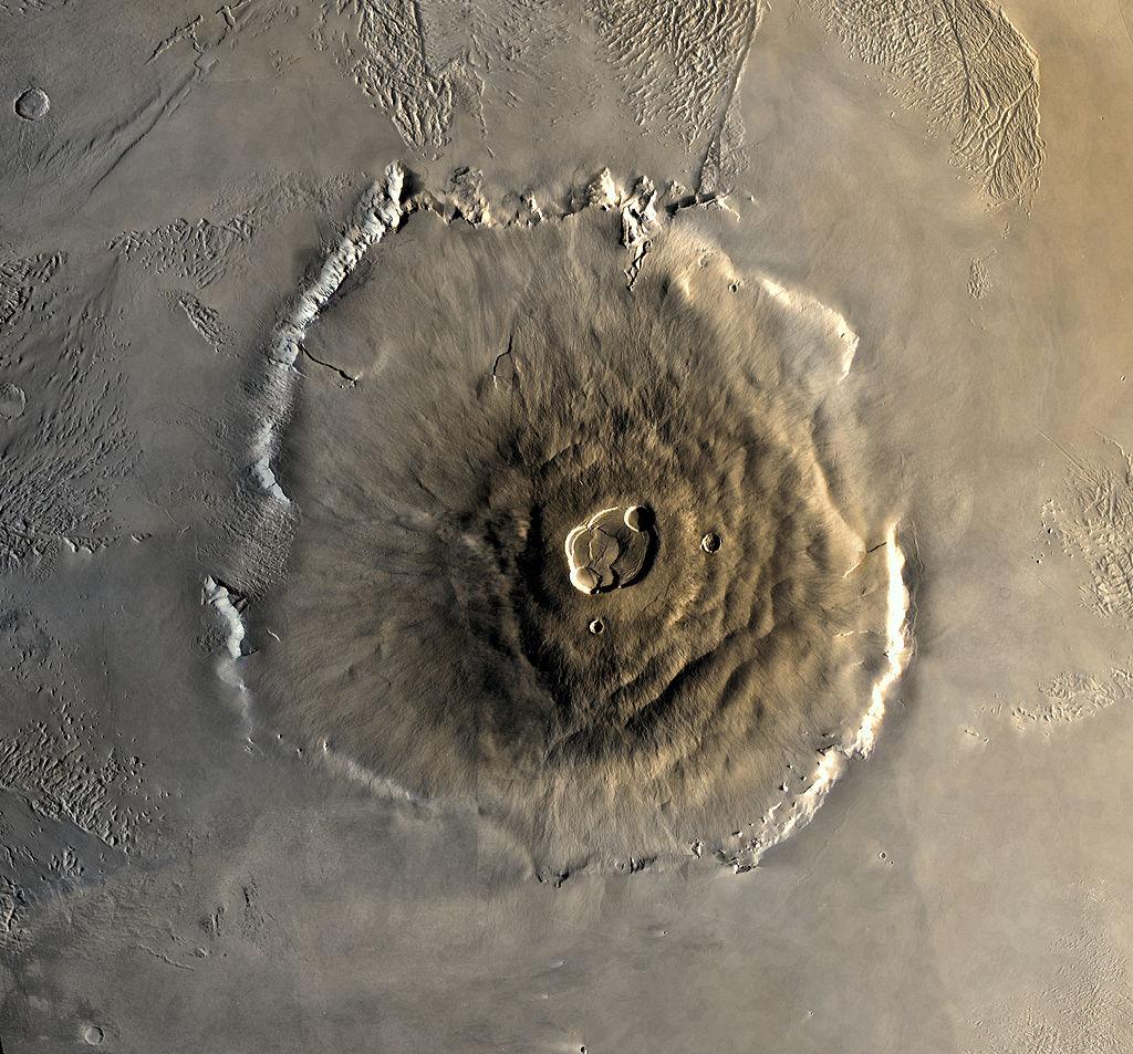 Гора Олимп Источник: NASA