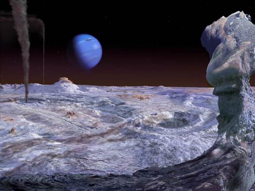 Поверхность Тритона в представлении художника Источник: stock-space-images.com
