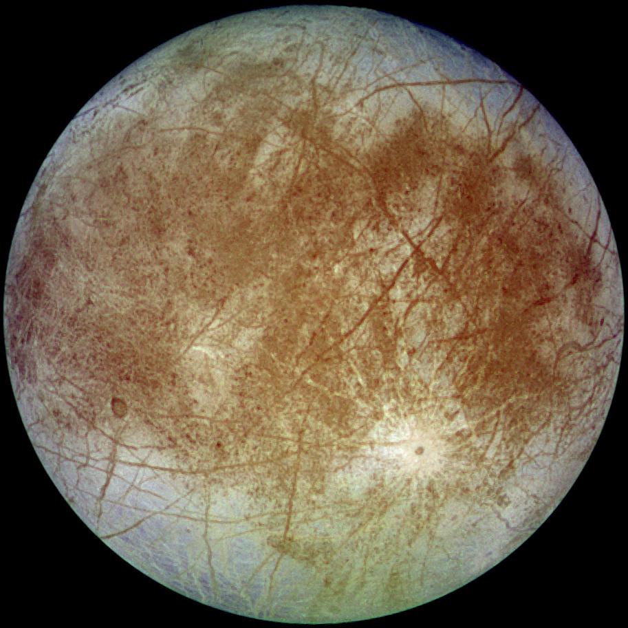 "Европа глазами аппарата ""Галилео"" Источник: NASA"