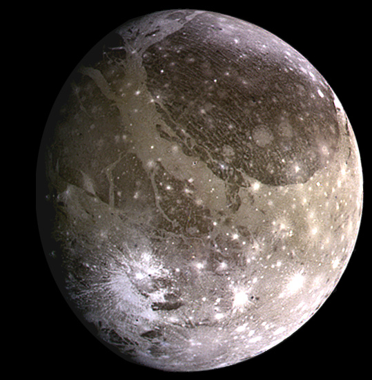 "Ганимед глазами аппарата ""Галилео"" Источник: NASA"