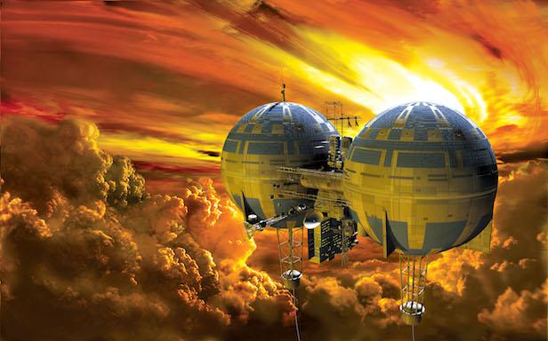 Полеты в венерианских облаках в представлении художника Источник: Adrian Mann