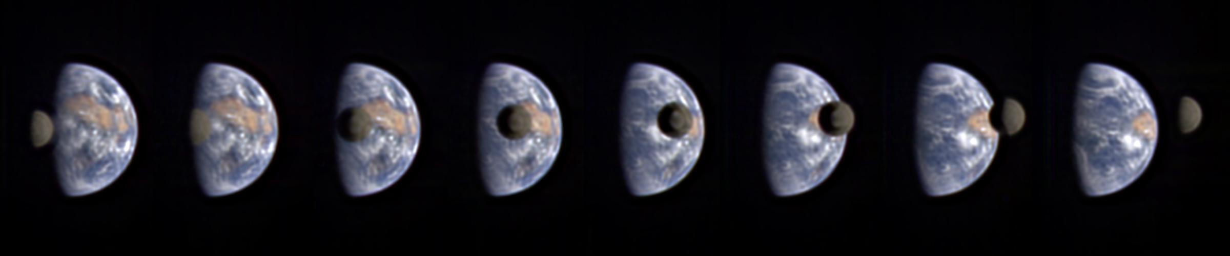 Земля и Луна из космоса