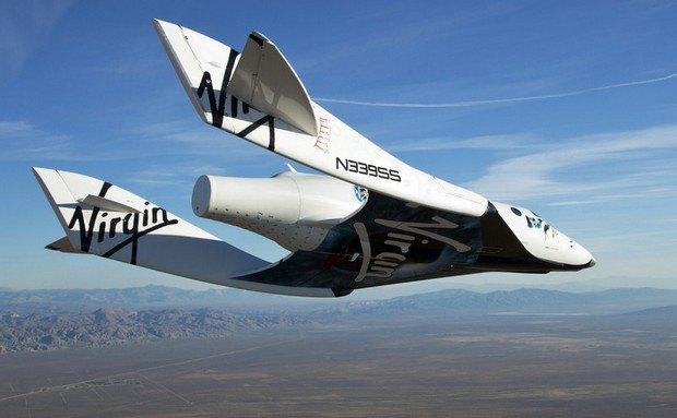SpaceShipTwo во время испытательного полета