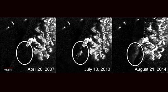 Таинственный объект на Титане