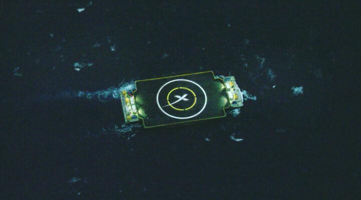 Посадка первой ступени Falcon 9 прошла в «жестком» режиме
