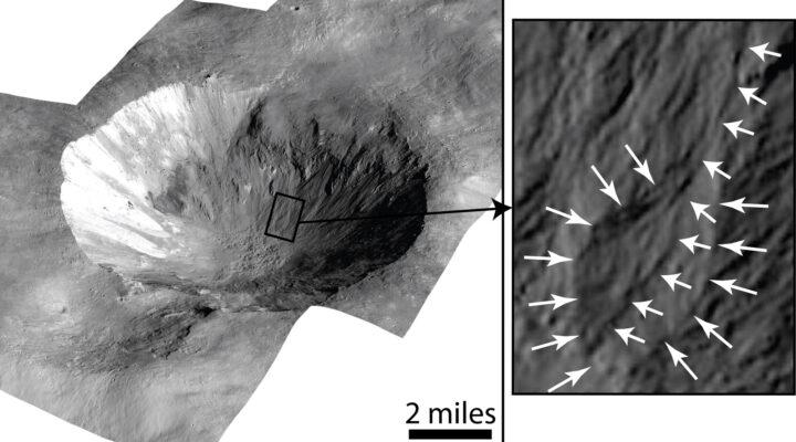 На астероиде Веста обнаружены следы селевых потоков