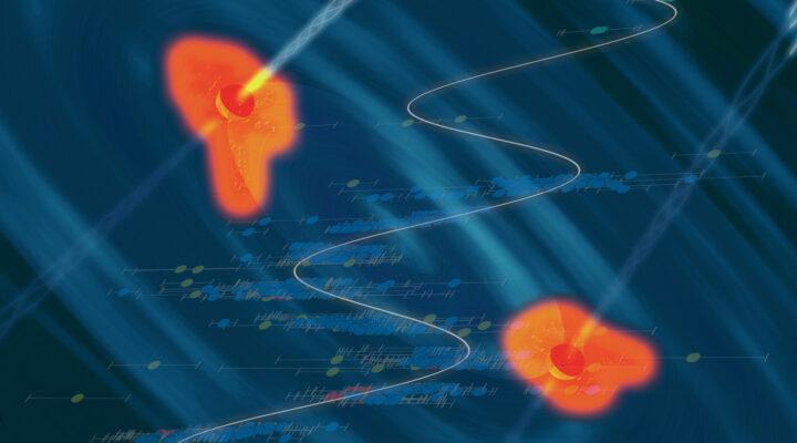 Световой сигнал свидетельствует о сливающихся сверхмассивных черных дырах