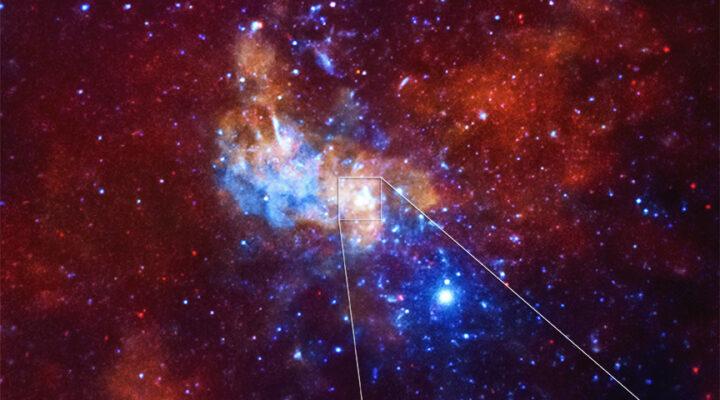 Телескоп Chandra зафиксировал рекордную рентгеновскую вспышку в центре Млечного пути
