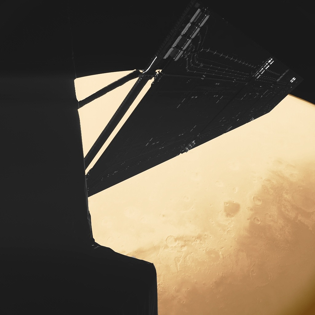 Селфи Розетты на фоне Марса