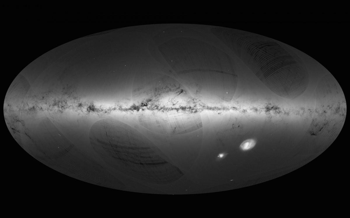 Карта неба от Gaia